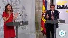 Las risas de Yolanda Díaz, ministra de Trabajo, para explicar el peor dato de empleo de la historia.