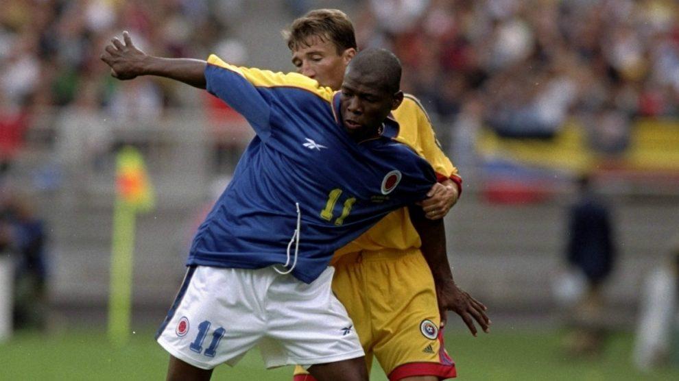 Asprilla durante su etapa como internacional colombiano. (Getty)