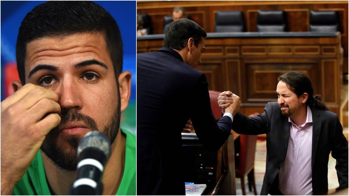 Domínguez, Sánchez e Iglesias, en fotos de archivo.