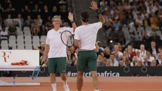 Bill Gates y Rafa Nadal en Sudáfrica. (Getty)