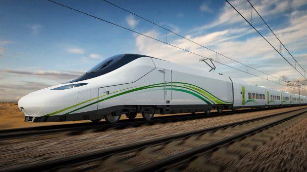 Tren AVE entre el trayecto de las ciudades de Medina y La Meca.