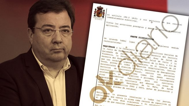 El socialista Guillermo Fernández Vara.