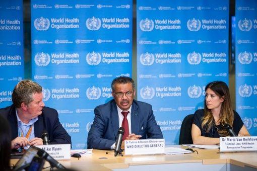 El director de la OMS durante el Foro del coronavirus en Ginebra.