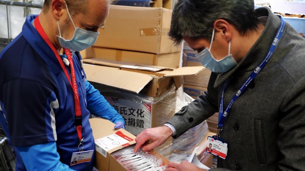 Material sanitario comprado por la Comunidad de Madrid a China para luchar contra el coronavirus. (Foto: Comunidad)