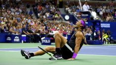 Nadal celebra su victoria en el US Open. (Getty)