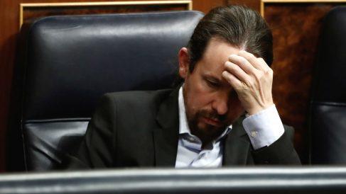 El vicepresidente segundo del Gobierno y líder de Podemos, Pablo Iglesias, en el Congreso. (Foto: EP)