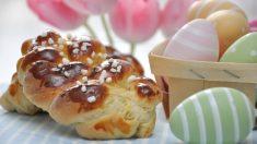 Trenza de huevo gallega para Pascua