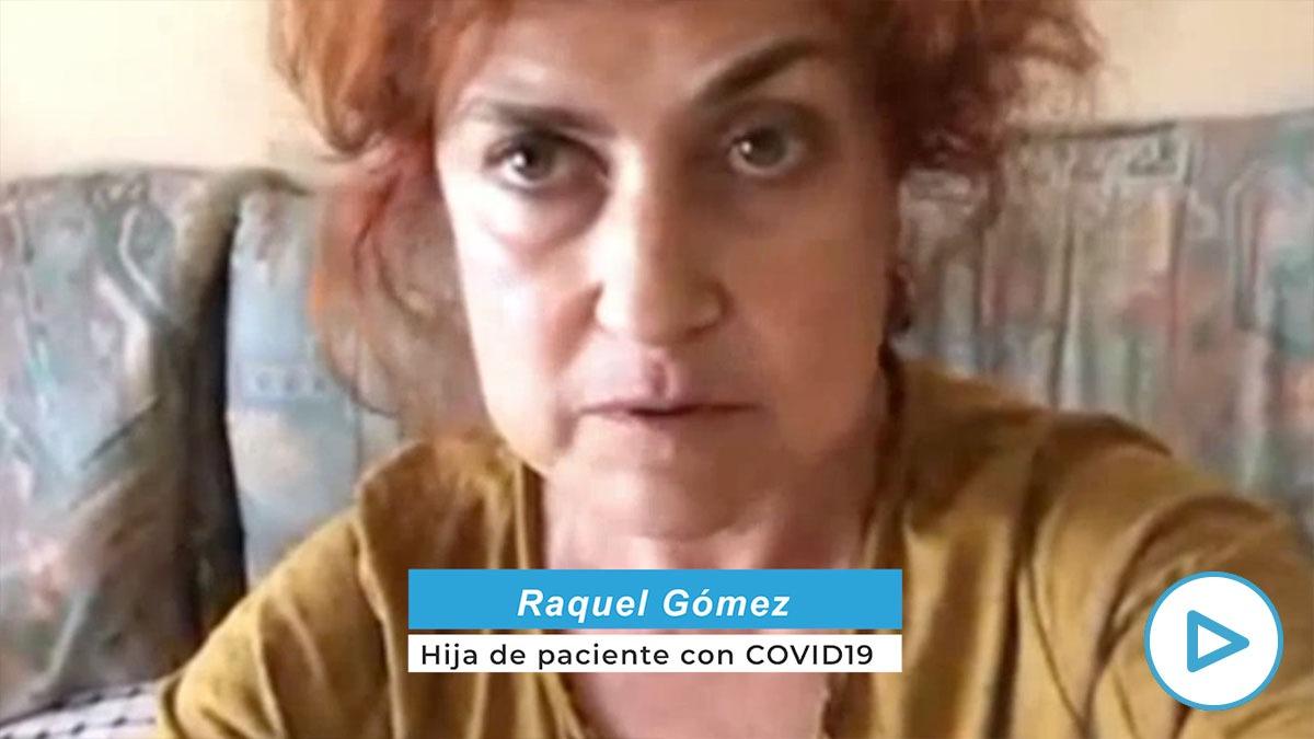 Raquel Gómez, hija de un paciente con Covid-19.