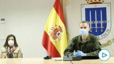 El Rey Felipe VI y la ministra de Defensa, Margarita Robles, en el Mando de Operaciones – CASA REAL