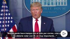 Trump mantendrá la fecha de las elecciones pese al coronavirus.