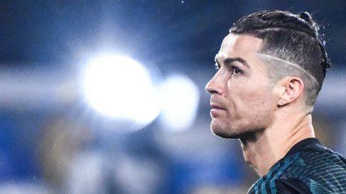 Cristiano Ronaldo, antes de un partido de Champions con la Juventus. (AFP)