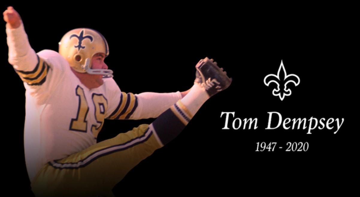 Muere por coronavirus la leyenda de la NFL, Tom Dempsey.