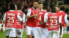 Los jugadores del Reims, durante un partido. (AFP)