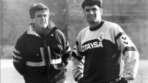 Míchel y Antic, en la época del Real Madrid.