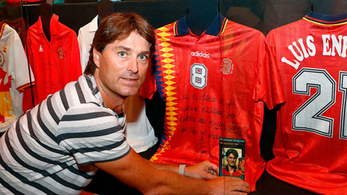 Julen Guerrero, en el museo de la Selección.