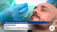 Diferentes test para verificar el coronavirus.