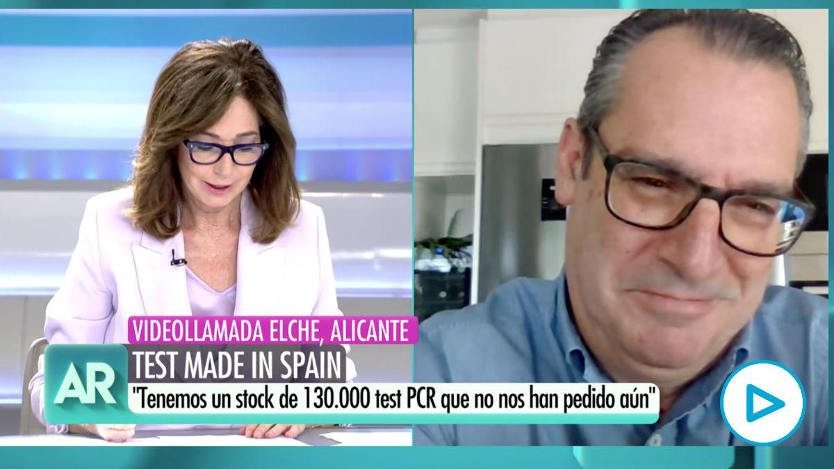 El empresario Antonio Martínez Murcia, CEO de Genetic PCR Solutions, durante su entrevista en 'El Programa de Ana Rosa'. (Vídeo: 'El Programa de Ana Rosa').