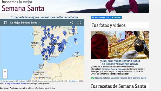 RTVE lanza una web con procesiones de Semana Santa