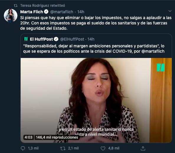 Teresa Rodríguez se mofa del subdirector general de logística de la Policía