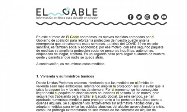 Militantes de Podemos crean un programa online para defender al Gobierno y sólo logran ¡140 visitas!