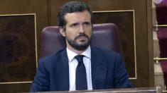 Pablo Casado, en el debate del estado de alarma.