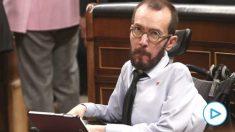 El portavoz de Unidas Podemos en el Congreso de los Diputados, Pablo Echenique. (Foto: Europa Press)