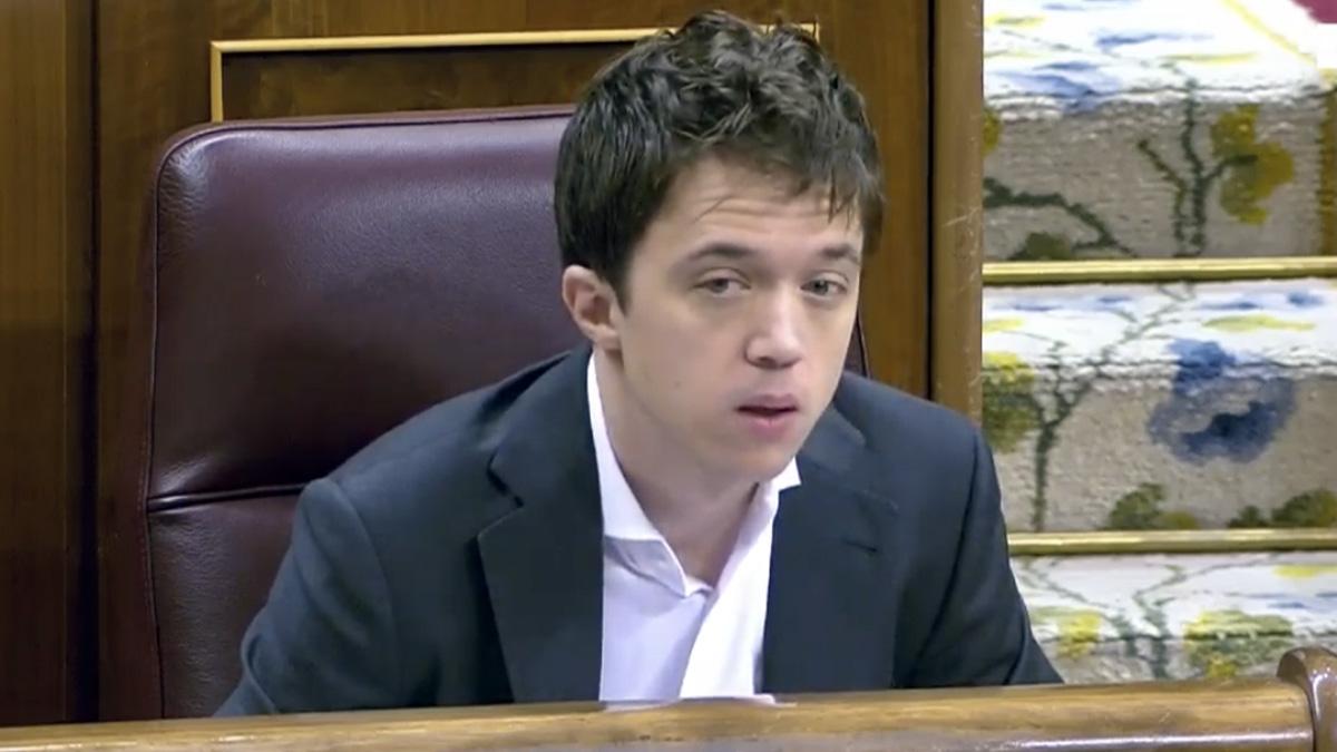 Iñigo Errejón, en el debate del estado de alarma.