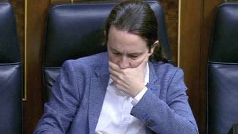 Pablo Iglesias, en el debate del estado de alarma.