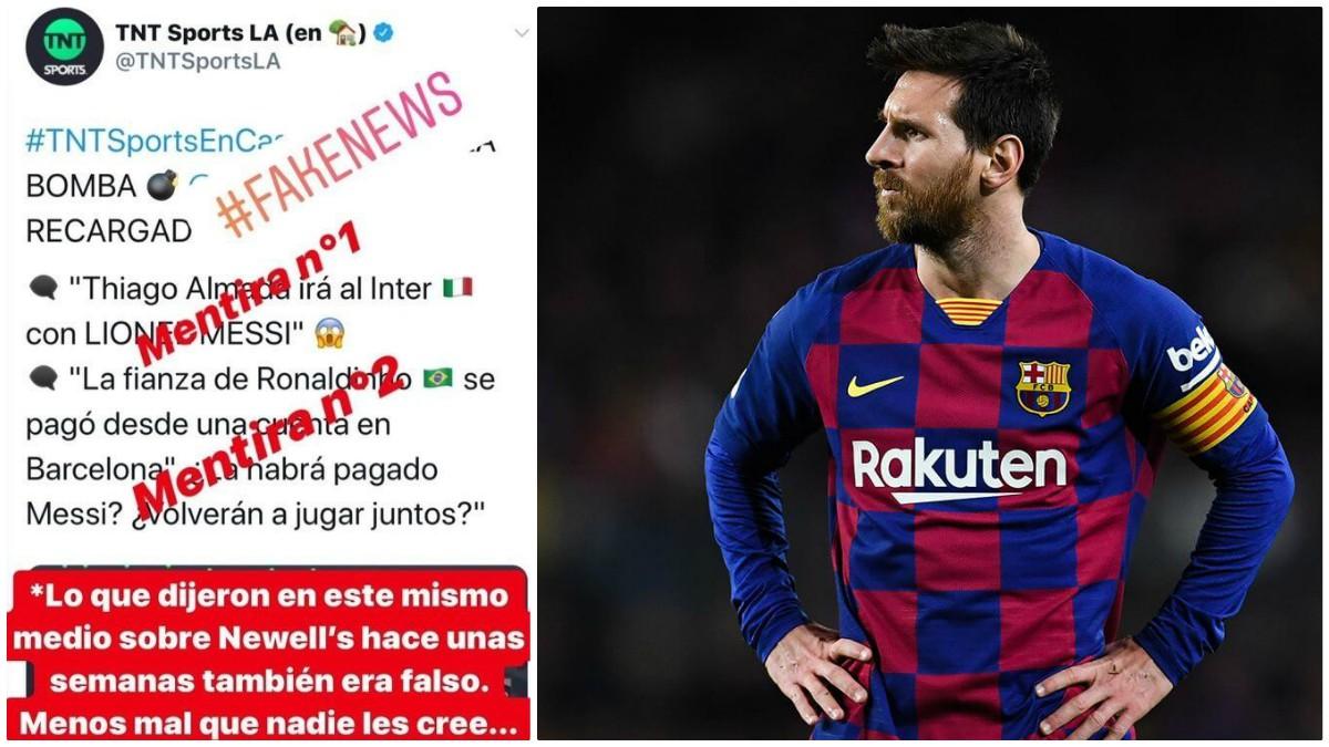 Messi se calentó en redes sociales contra un medio de comunicación.