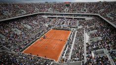 La Philippe Chatrier abarrotada durante un partido de Roland Garros 2019. (AFP)
