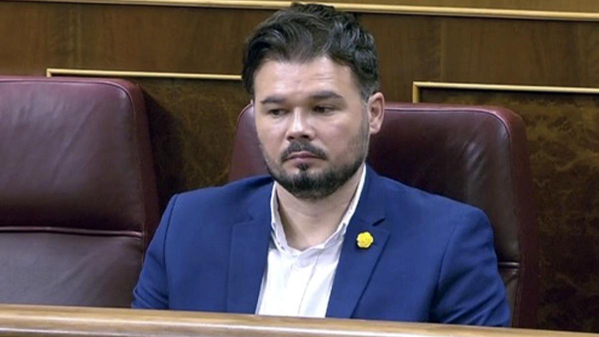 Gabriel Rufián, en el debate del estado de alarma.