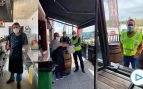 Un empresario madrileño reabre su restaurante para dar de comer gratis a camioneros, Policía y Guardia Civil
