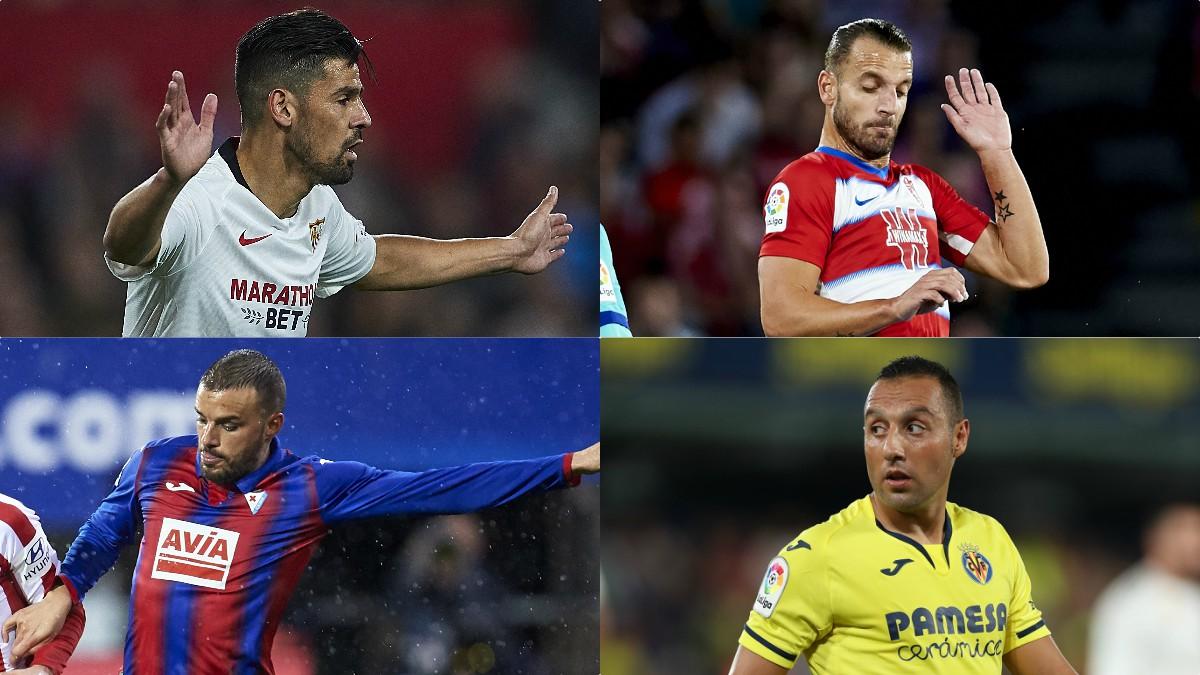 Nolito, Soldado, Pedro León y Cazorla, entre los jugadores que terminan contrato el 30 de junio (Getty).