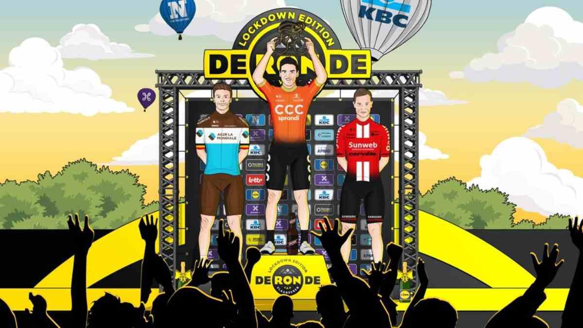 Greg Van Avermaet se proclama vencedor de la edición virtual del Tour de Flandes (@GregVanAvermaet)