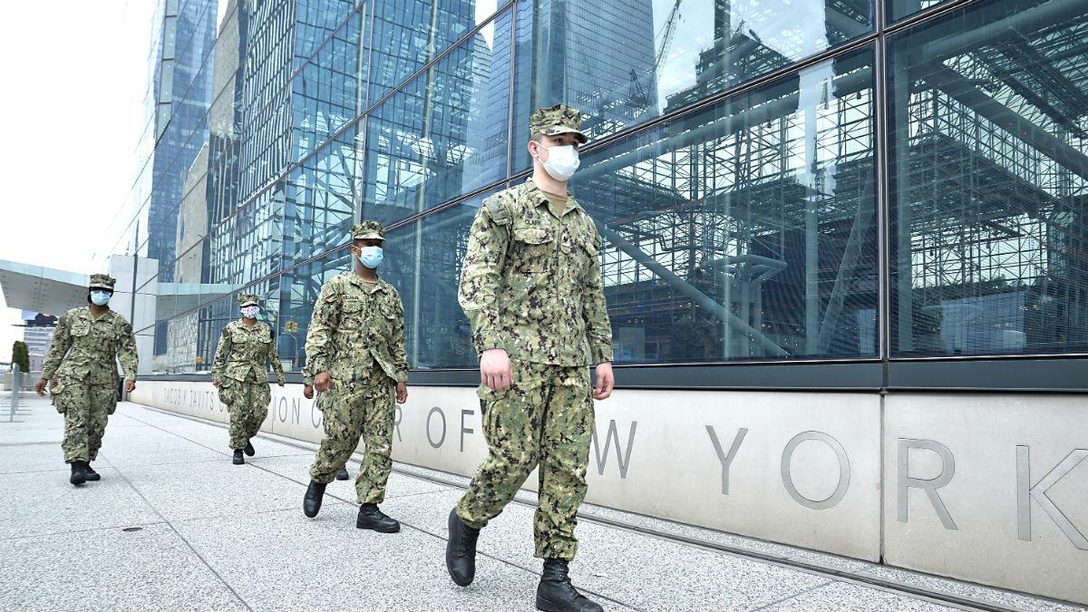 Soldados de la Guardia Nacional patrullan por las calles de Nueva York (Foto. Europa Press).