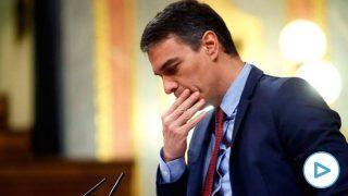 El presidente del Gobierno, Pedro Sánchez, durante su intervención en el pleno celebrado este jueves en el Congreso para aprobar una nueva prórroga del estado de alarma. (Foto: Efe)