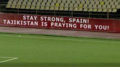 El mensaje de apoyo de Tayikistán a España.