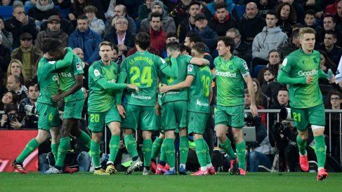 La Real Sociedad celebra un gol. (AFP)