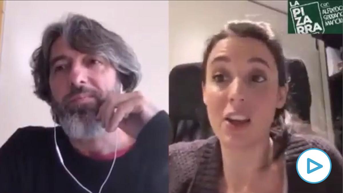 Irene Montero entrevistada por Alfredo Serrano.