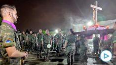 Soldados españoles celebran la Semana Santa en Turquía.