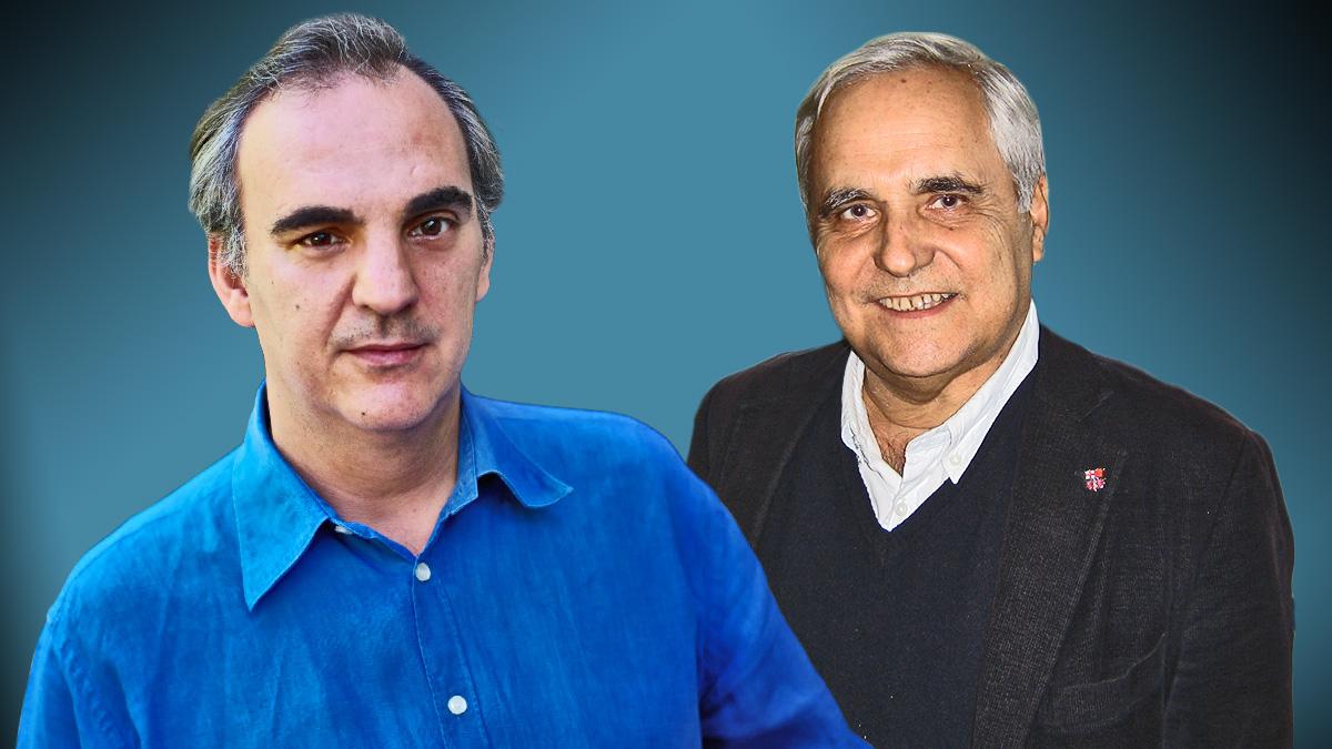 Daniel Múgica, hijo del histórico dirigente socialista Enrique Múgica, y Juan Cruz, periodista de 'El País'.