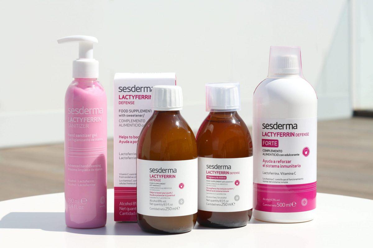 Línea LACTYFERRIN Defense. De venta en farmacias, parafarmacias y online en www.sesderma.com