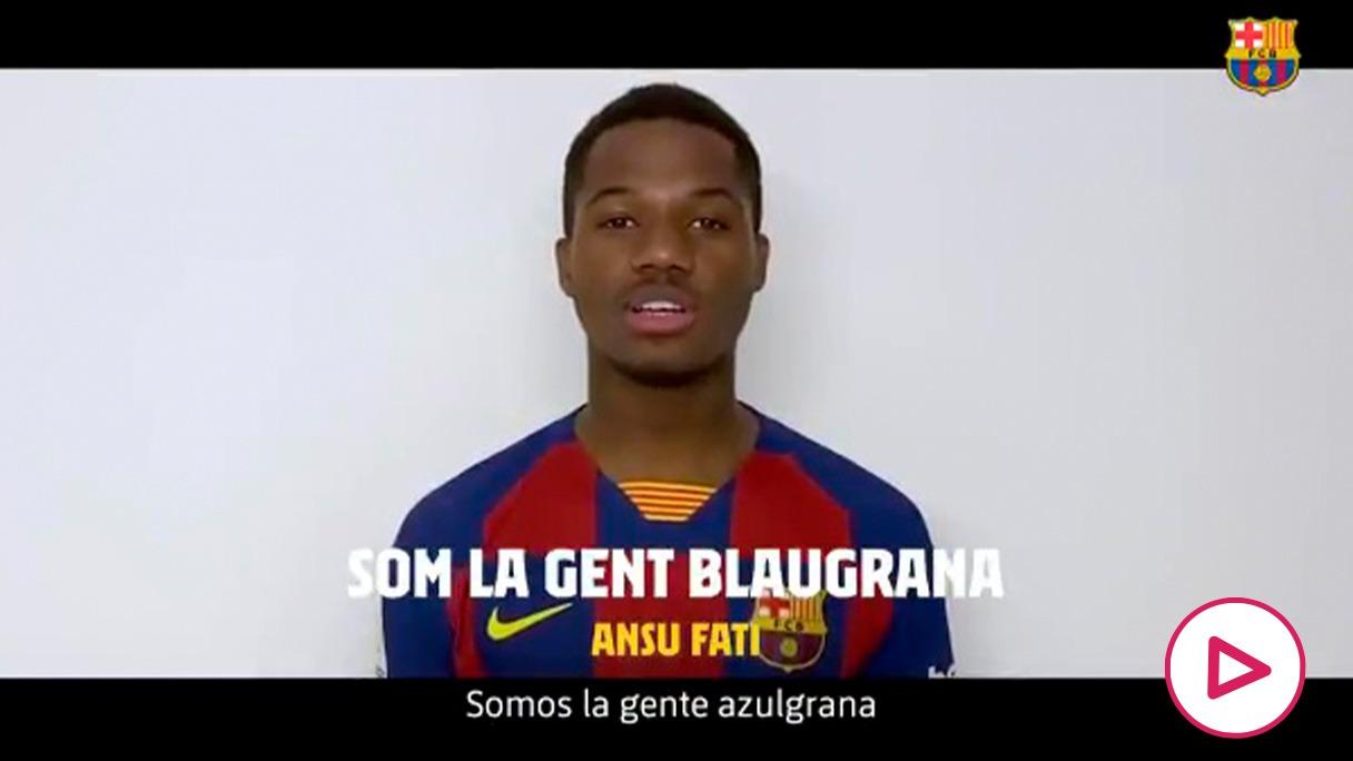 El Barça ha mostrado su apoyo en una campaña contra el coronavirus.