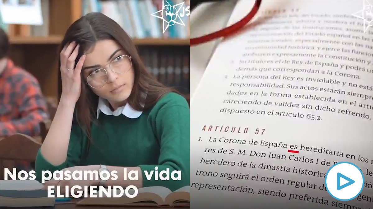 El vídeo de las Juventudes Socialistas vinculadas al PSOE contra la monarquía.