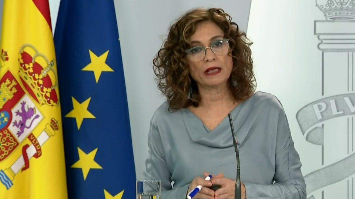 María Jesús Montero, ministra de Hacienda y Portavoz del Gobierno, en la rueda de prensa posterior a la celebración del Consejo de Ministros.