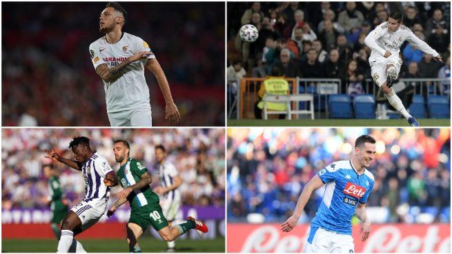 Ocampos, James Rodríguez, Salisu y Milik, cuatro nombres relacionados con el Atlético de Madrid.