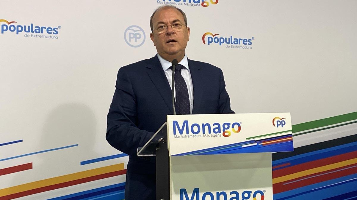 El presidente del PP de Extremadura, José Antonio Monago. Foto: EP