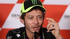 Valentino Rossi durante una rueda de prensa la pasada temporada. (Getty)