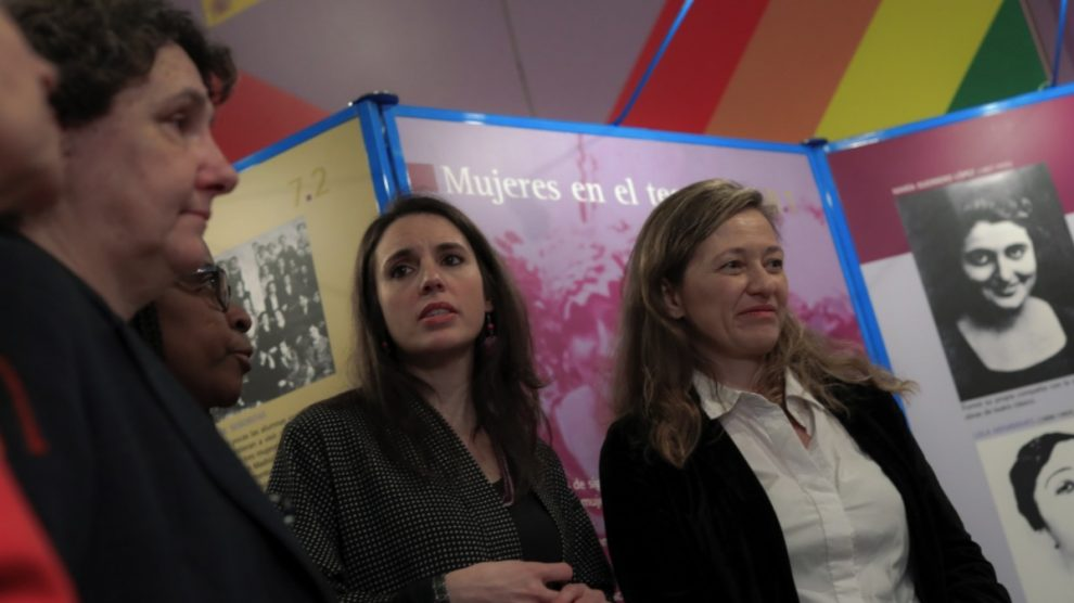 Beatriz Gimeno, Rita Bosaho, Irene Montero y Vicky Rosell. (Foto: EP)
