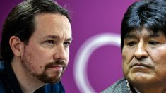 Pablo Iglesias y Evo Morales.